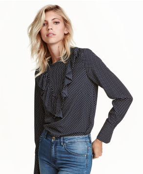 hm-polka-dot-navy-blouse
